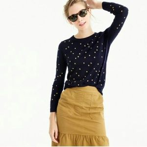 J.Crew Tippi Stars Embroidered Sweater